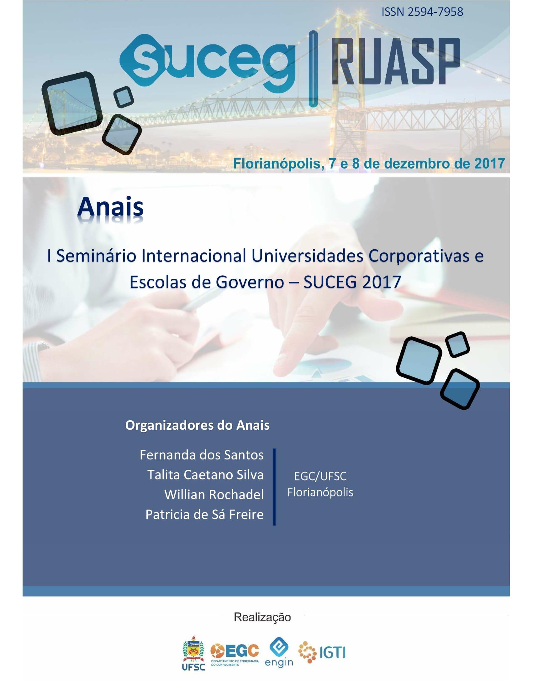 Visualizar v. 1 n. 1 (2017): Anais do Seminário Universidades Corporativas e Escolas de Governo